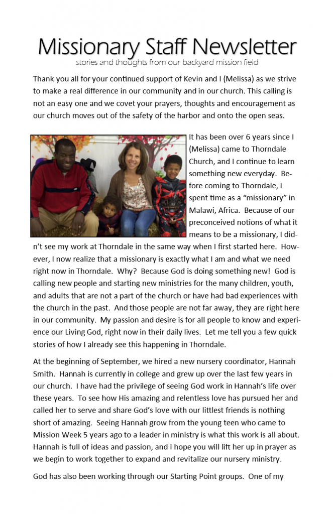 Missionary Staff Newsletter 11-08-15 pg 1