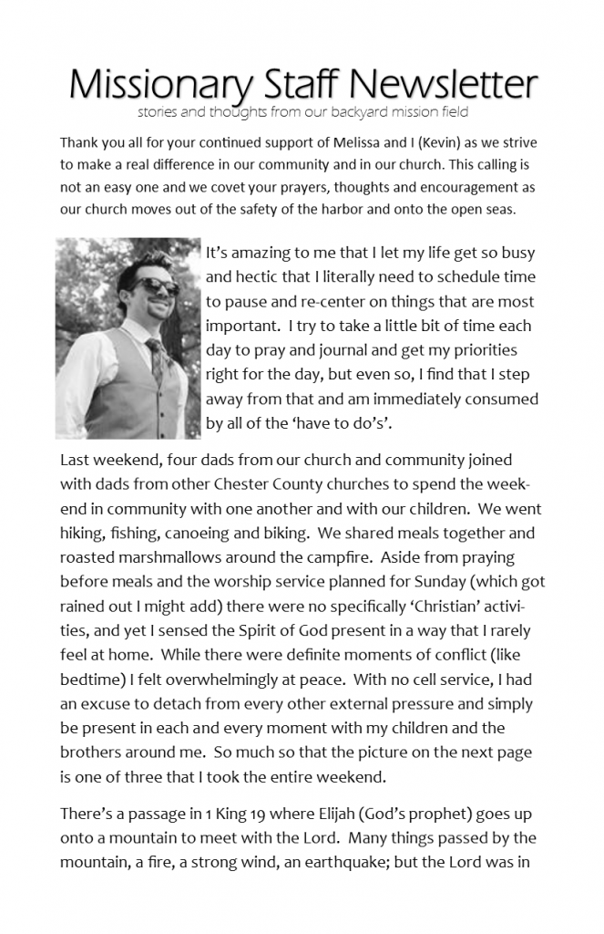 Missionary Staff Newsletter 05-08-16 pg 1